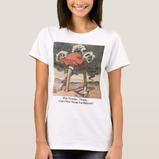 Anti-Mitt Romney with Head in the Sand T-Shirt