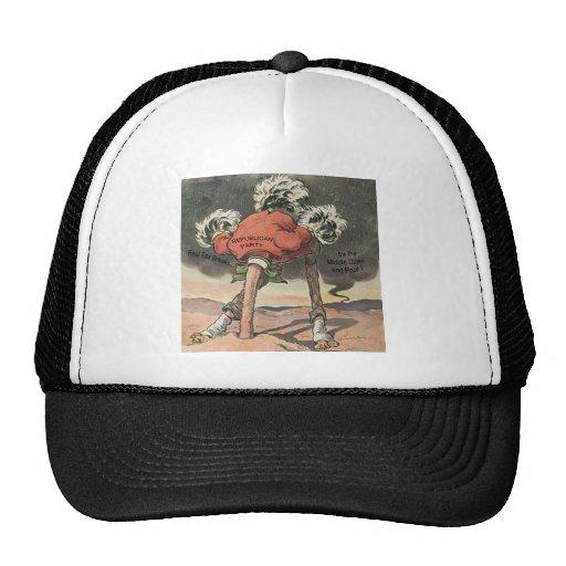 Anti-Mitt Romney with Head in the Sand Trucker Hat