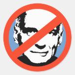 ANTI-NADER: ANTI-Ralph Nader Round Sticker