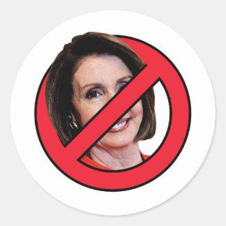 Anti Nancy Pelosi Round Sticker