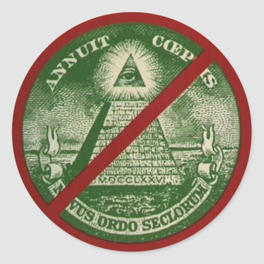 Anti-New World Order Sticker
