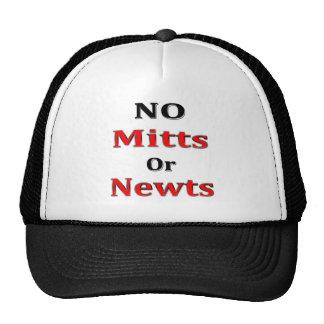 Anti Newt Gingrich Mitt Romney blk red Trucker Hat