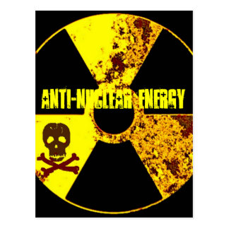 ANTI-NUCLEAR ENERGY PROTEST POSTCARD