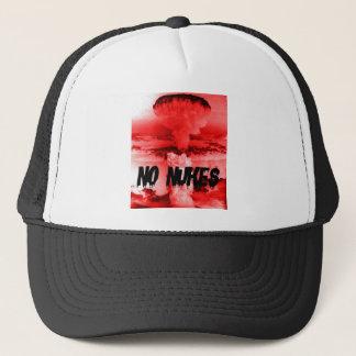 Anti-nuclear NO NUKES war opposition NO WAR Trucker Hat