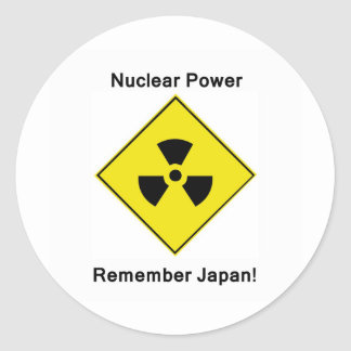 Anti Nuclear Power Classic Round Sticker