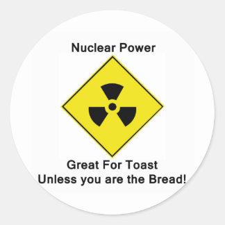 Anti Nuclear Power Classic Round Sticker