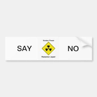 Anti Nuclear Power Logo Bumper Sticker Car Bumper Sticker