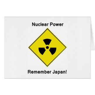 Anti Nuclear Power Logo Card