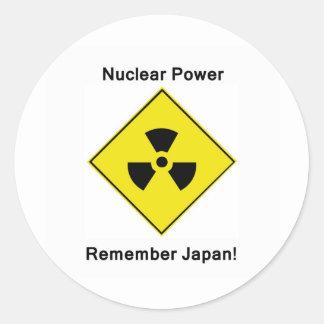 Anti Nuclear Power Logo Classic Round Sticker
