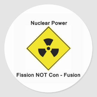 Anti Nuclear Power Logo Classic Round Sticker