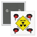 Anti Nuclear Power Logo Pinback Buttons