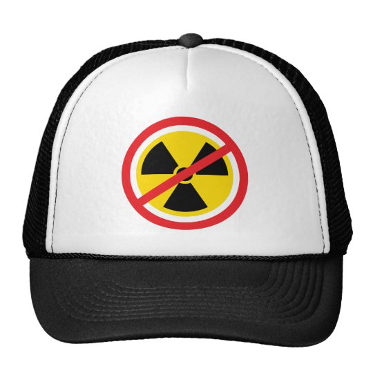 Anti nuclear power radiation symbol hat