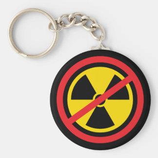 Anti nuclear power radiation symbol keychain