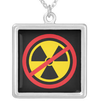 Anti nuclear power radiation symbol necklace