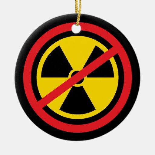 Anti nuclear power radiation symbol ornament