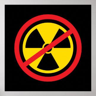 Anti nuclear power radiation symbol poster print