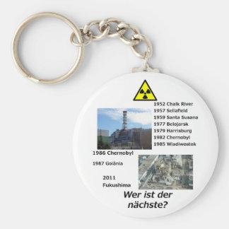 """Anti nuclear power """"Wer ist der nächste?"""" Keychain"""