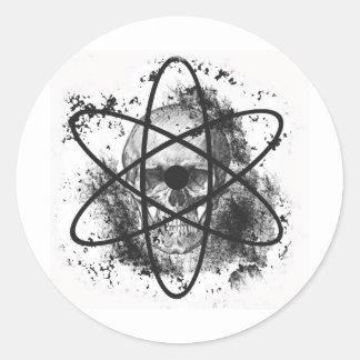 """Anti Nuclear Skeleton""* Classic Round Sticker"