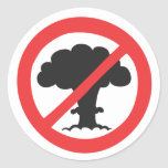 Anti nuclear weapons sticker