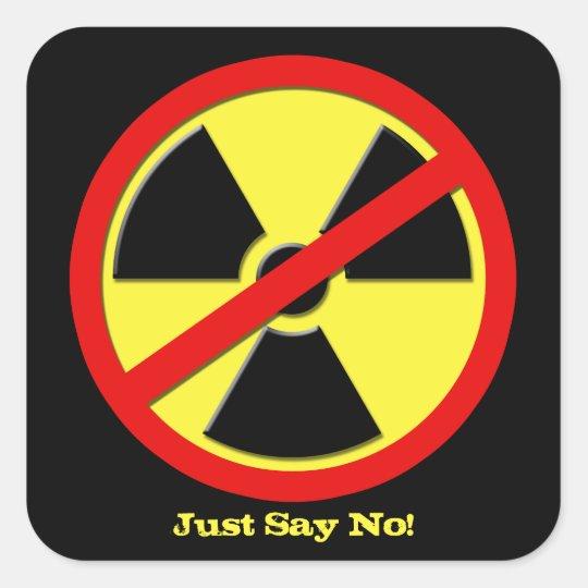 Anti Nuke - Just say No! Square Sticker
