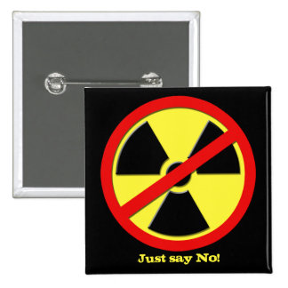 Anti Nukes - Japan says No! 2 Inch Square Button