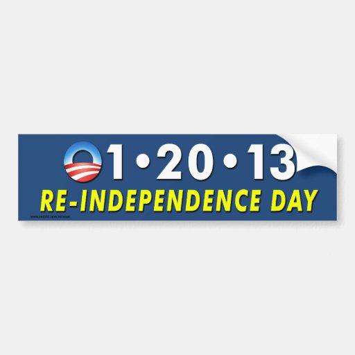"Anti Obama ""12013 Re-Independence Day"" sticker Bumper Sticker"