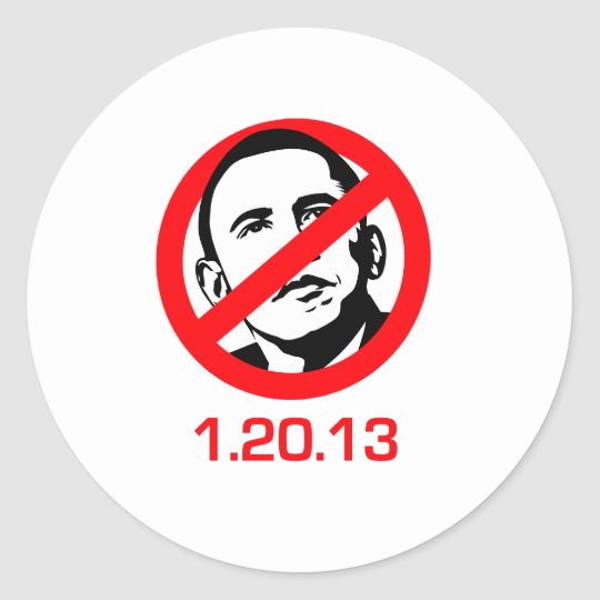 Anti-Obama - 1.20.13 Classic Round Sticker