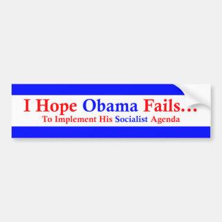 Anti-Obama 1 Etiqueta De Parachoque
