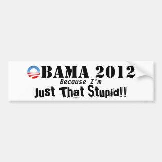 Anti Obama 2012 Bumper Sticker Car Bumper Sticker