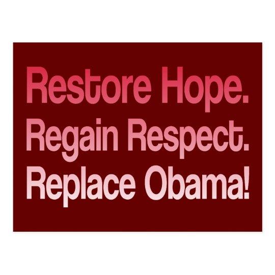 Anti Obama 2012 Election Postcard