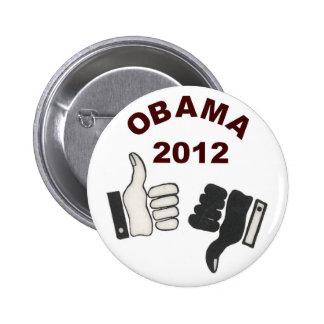 Anti-Obama 2012 Pin Redondo De 2 Pulgadas