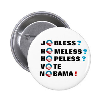anti-Obama 2012 Pinback Button