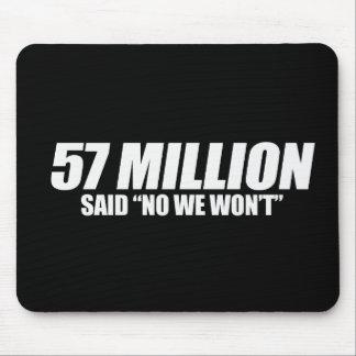 Anti-Obama - 57 Million said No Bumpersticker Mouse Pad