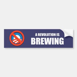 Anti-Obama - a revolution is brewing Car Bumper Sticker
