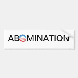 Anti-Obama Abomination Bumper Stickers