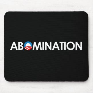 Anti-Obama - Abomination white Mouse Pad