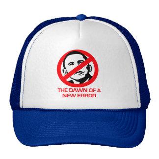Anti-Obama - amanecer del nuevo error Gorros Bordados