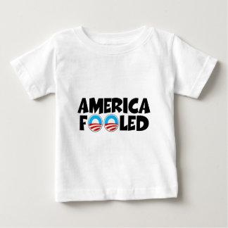 Anti Obama,America fooled baby T-shirt