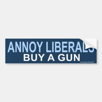 "anti Obama ""Annoy Liberals Guns"" Sticker"
