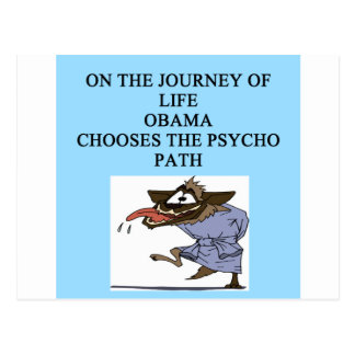 anti obama anti liberal joke postcard