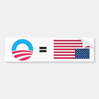 Anti-Obama apenó la bandera Pegatina Para Auto
