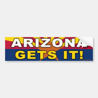 "anti Obama ""Arizona Gets It!"" bumper sticker"