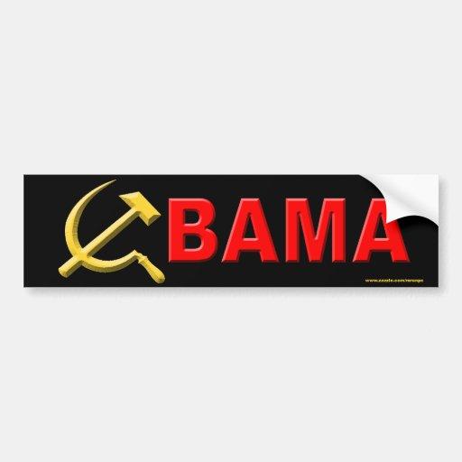 """anti Obama """"Bama"""" bumper sticker"""
