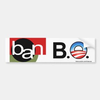 "Anti Obama ""Ban BO"" bumper sticker"