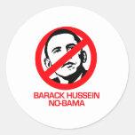 Anti-Obama - Barack Hussein Nobama Pegatina Redonda