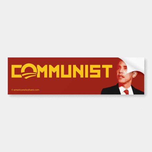 Anti-Obama: Barack Obama Communist Bumper Sticker