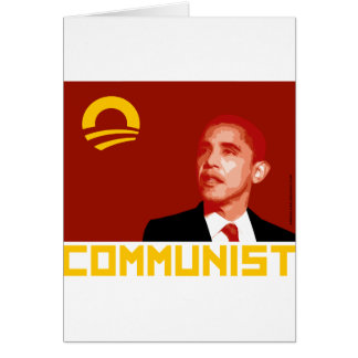 Anti-Obama Barack Obama Communist Card