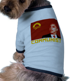 Anti-Obama Barack Obama Communist Dog Tee Shirt