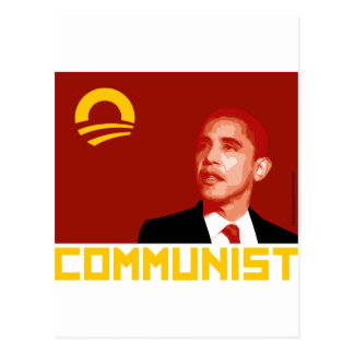 Anti-Obama Barack Obama Communist Postcards