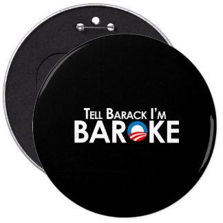 Anti-Obama - Baroke Bumpersticker Button